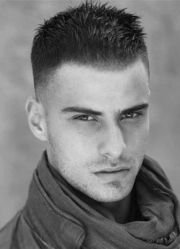 fade haircut with spiked top