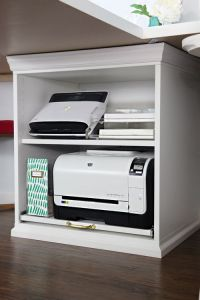 25+ best ideas about Printer storage on Pinterest | Small ...