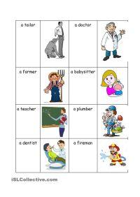 People work | ESL worksheets of the day | Pinterest | Job ...