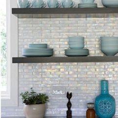Kitchen Sliding Shelves Cheap Cabinets Michigan Iridescent Backsplash | Ebony & Floating ...