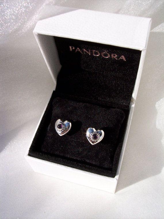 Pandora Treasured Hearts Garnet Rhodolite Bead By