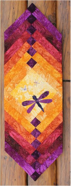 Summer Dragonfly table runner kit now available!