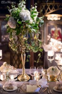 French Romance, gold and white mirror table top table ...