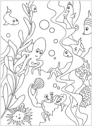 free under the sea coloring pages (same website has free