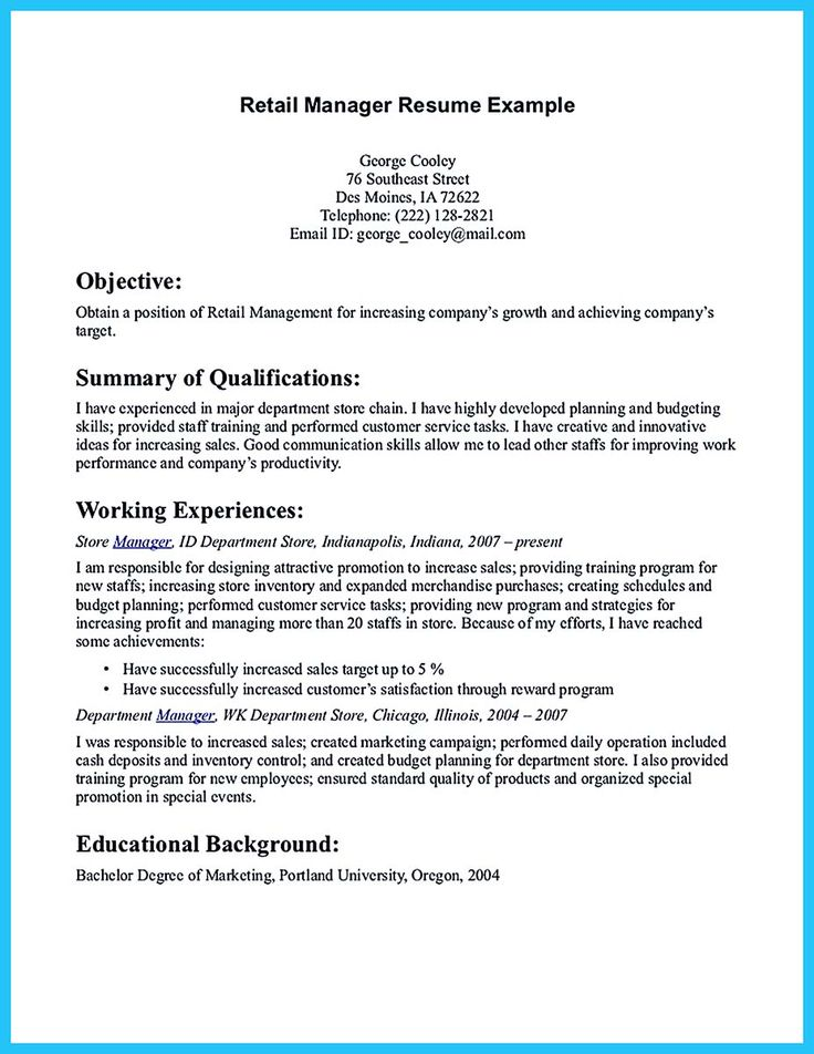 Marketing Resume Objective Examples - Examples of Resumes - marketing resume objective statements