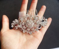 Vintage Bridal Hair Comb, Statement Wedding Headpiece ...