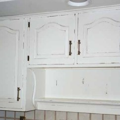 Kitchen Cabinet Makeovers Modern Knobs White Distressed Cabinets | Pinterest ...