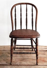 Primitive Antique Spindle Back Chair, Urban Farmhouse ...