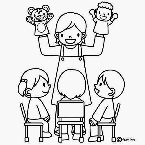 Dibujos para colorear. Maestra de Infantil y Primaria.: El