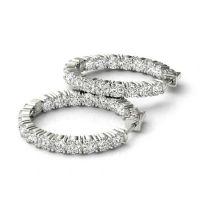 5.4 carat Forever Brilliant Moissanite Hoop Earrings 14k ...