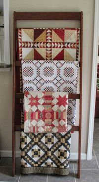 1000+ ideas about Quilt Ladder on Pinterest | Quilt Racks ...