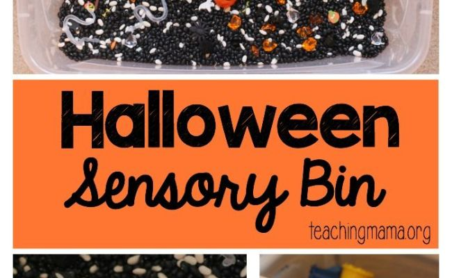 Halloween Sensory Bin Plays Pumpkins And Halloween