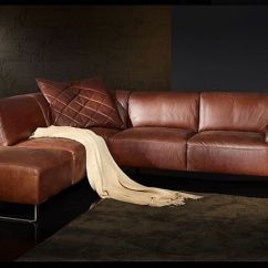 Vintage Leather Sectional Sofa White Slipcovered Sleeper Ikea Edle Polstergarnitur Von W. Schillig Aus Der Black Label ...