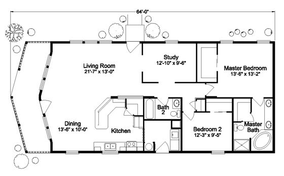 The Metolius Cabin N5P264K1 Home Floor Plan