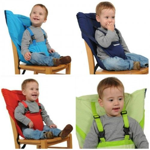 baby portable high chair safety harness black restaurant chairs kid toddler child infant newborn travel feeding booster seat highchair ...