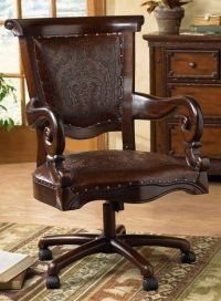 Tooled Leather Western Desk Chair.....would have to be in ...