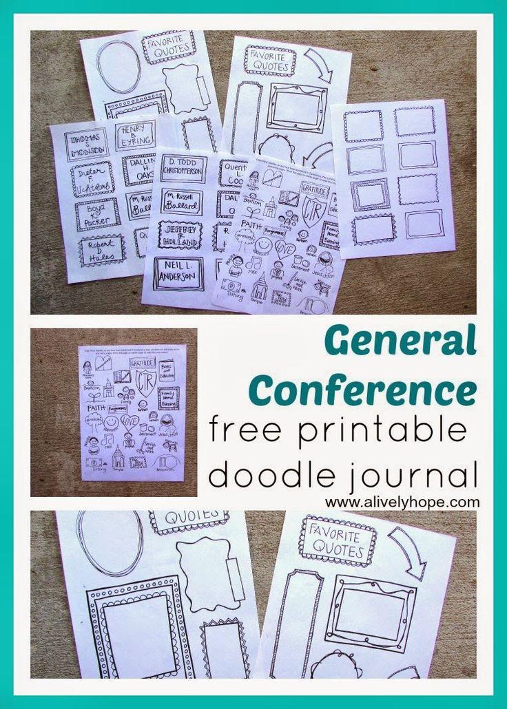 2016 general conference doodle journal