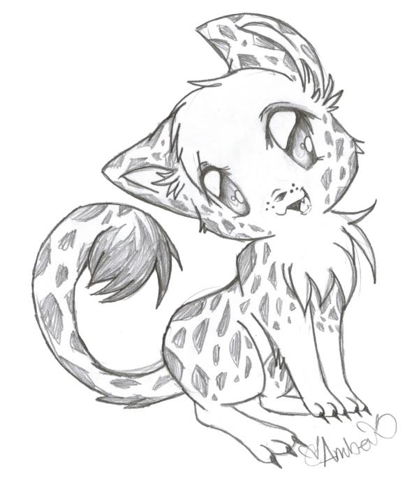 Baby Cheetahs Drawing
