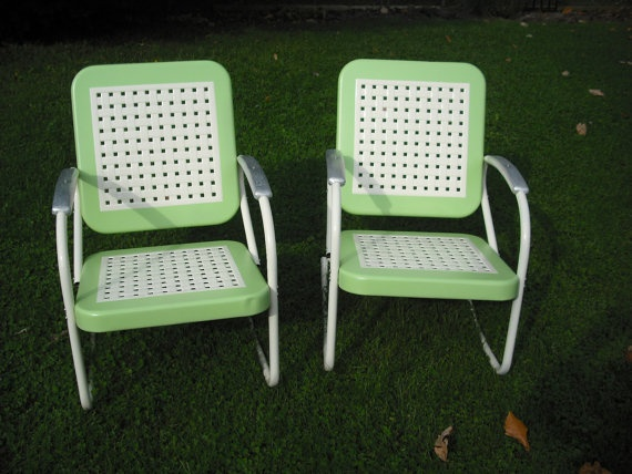 Vintage 1950s metal lawn chairs restored by bking29 on