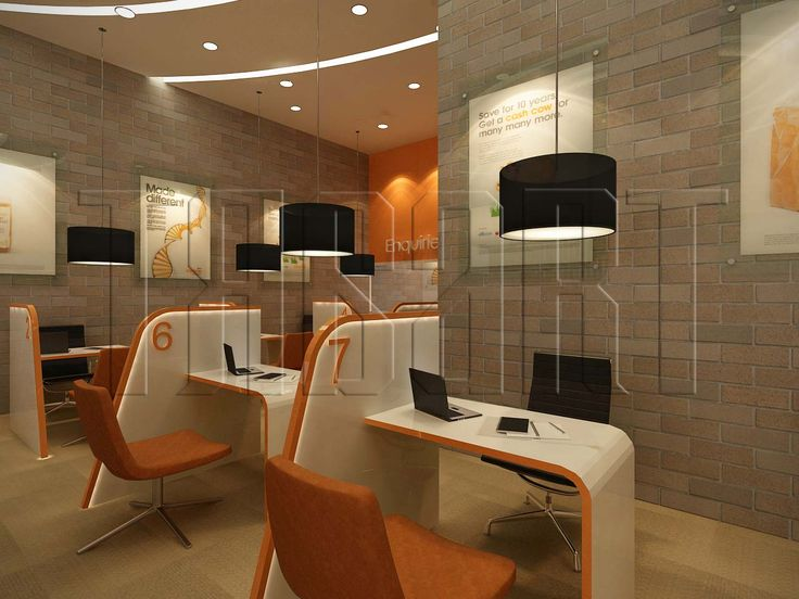 A modern futuristic look for a customer service counter