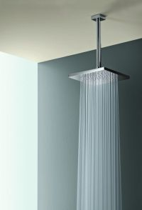 Square Rain Shower Head w/ Ceiling Mount | House ideas ...