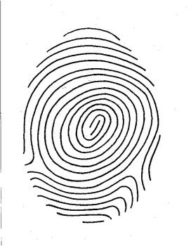 Fingerprint Poetry Writing Template Grades 4-12, Unique