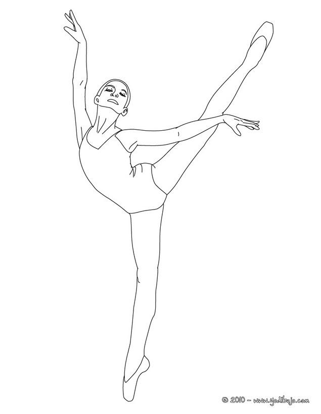 Dibujo Para Colorear Una Bailarina Haciendo Un Pique
