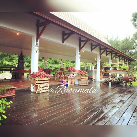 Rustic semi outdoor Function hall for wedding party or