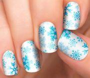 winter wonderland holiday nails