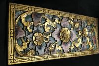 Details about Balinese Lotus Panel Traditional carved wood ...