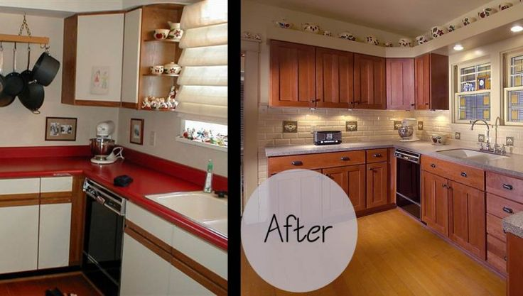 refinishing kitchen cabinets cost home depot sinks undermount cabinet refacing before and after photos - google ...