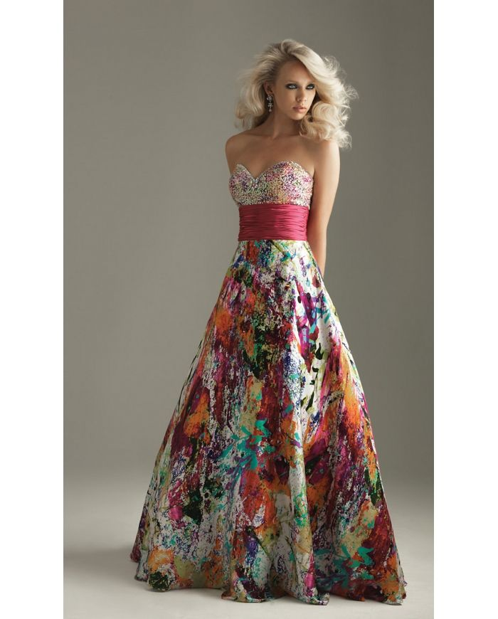 Unique Prom Dresses  Unique Strapless Prom Dress Night