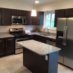 Remodeling Kitchens Brushed Nickel Kitchen Lighting Kountry Wood Products - Georgetown Coffee Maple Cabinets ...