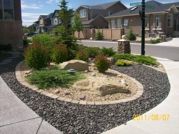 driveway landscaping corner