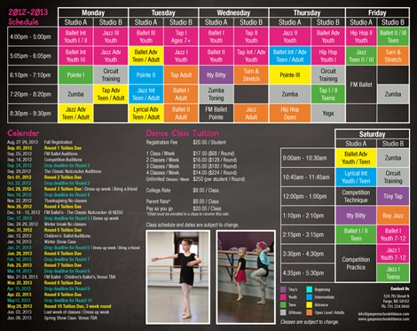 14 Best Images About Dance Studio Brochure Samples On