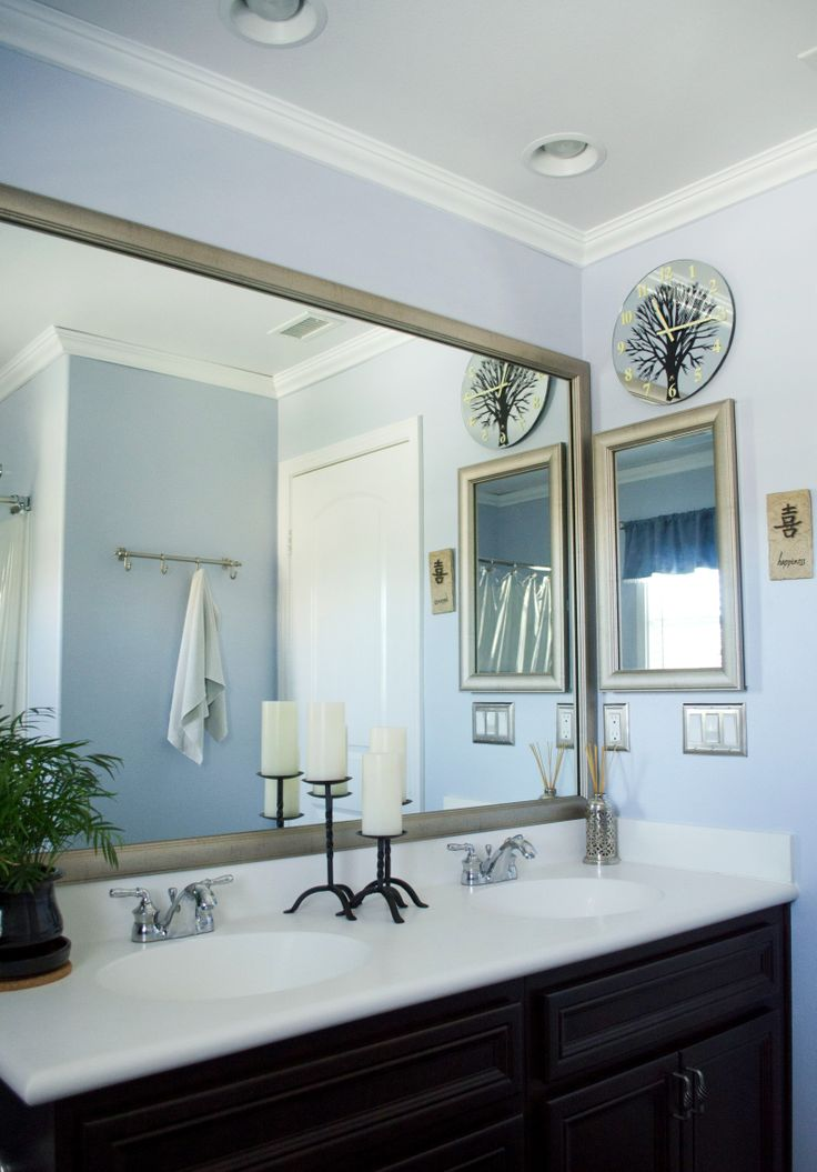 Large Bathroom Mirror Frame 1000+ Images About Mirrormate Diy Mirror Makeovers By