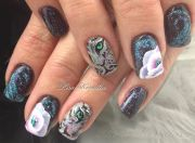gel overlay with hand painted animal