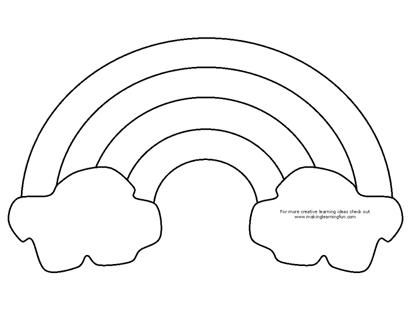 Rainbow Coloring Page Craft ~ Either use as a coloring