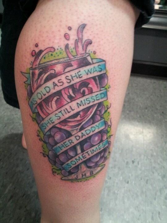Wine Glass Tattoo Industry Tattoo Bellingham Wa