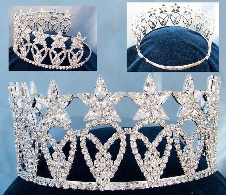 Miss Usa Replica Rhinestone Crown Tiara Crowns Gt Halos
