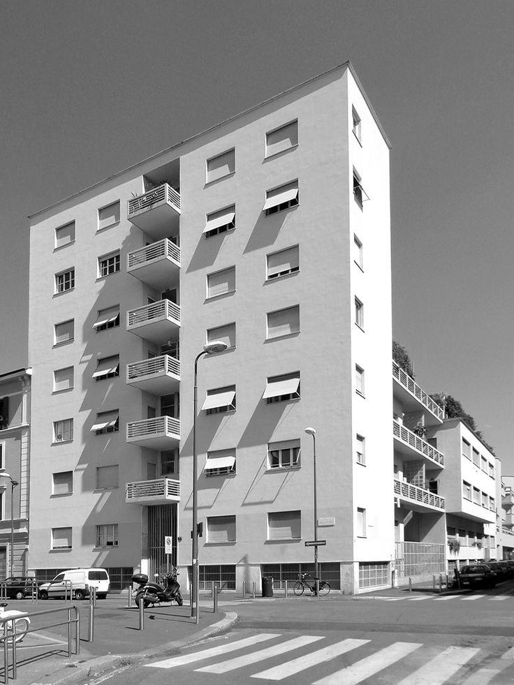 Giuseppe Terragni Casa Rustici MIlano  maestriTerragni  Pinterest
