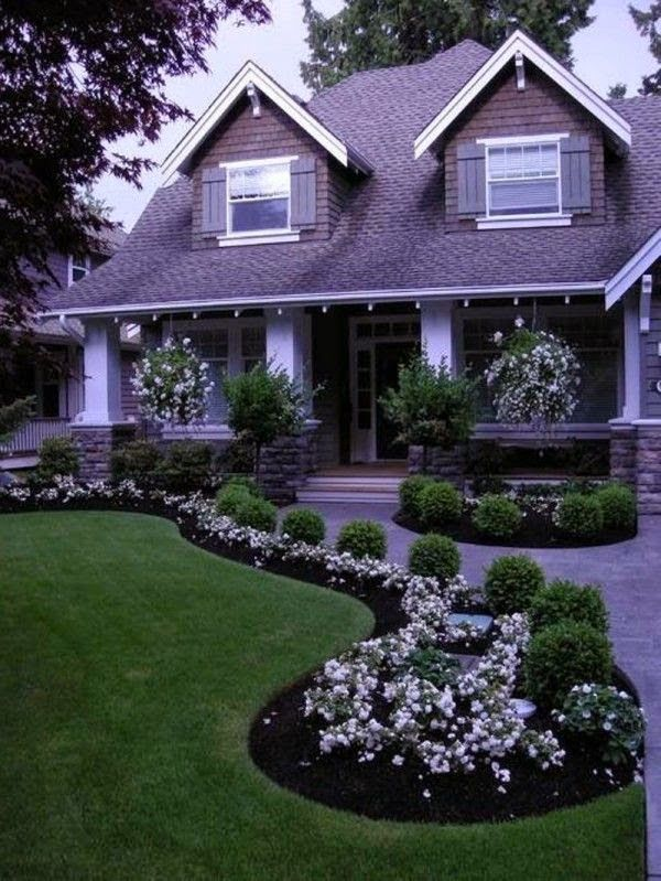 nice front yard #landscaping