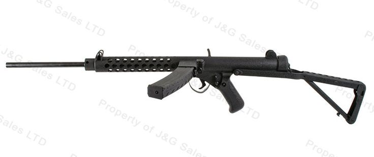 A semi-automatic civilian version of the Sterling SMG, the
