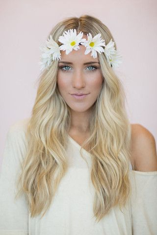 Daisy Flower Crown Headband Accessories Pinterest
