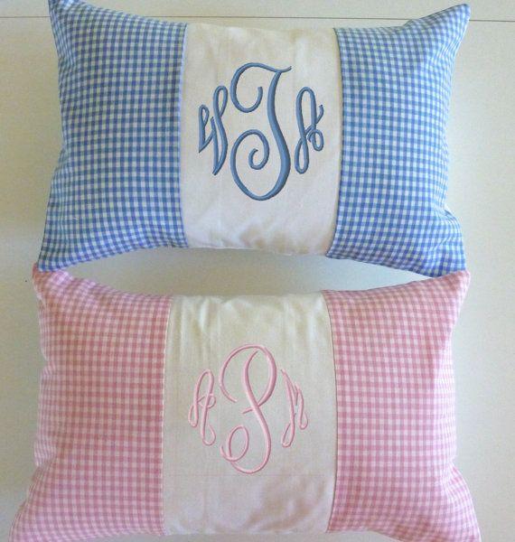 pillowcase monogram
