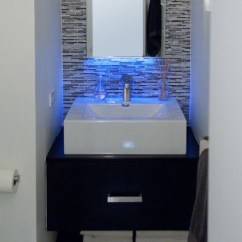 Farmhouse Kitchen Lights Old Cabinets For Sale Blue Led Strip Light Over Sink. Http://www.led-light-strip ...