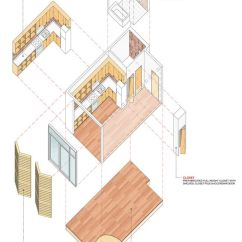 Exploded Axon Diagram Cooper 3 Way Dimmer Switch Wiring Unit Axonometric (image: Samuel Pitnick) | Architectural Diagrams Pinterest Cities ...
