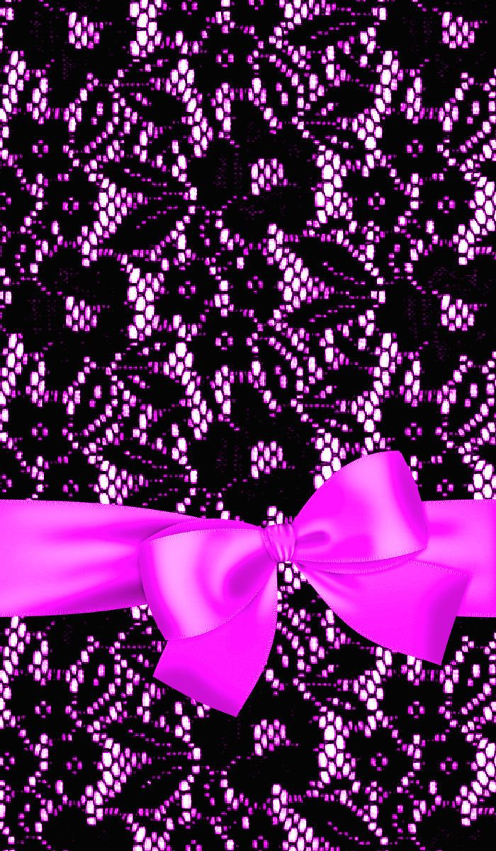 Cute Sparkly Pink Wallpapers Lace Bow Purple Wallpapers Pinterest Lace Bows And