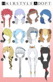 hairstyle adopts with color closed