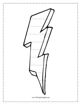 This free, printable writing template features a lightning